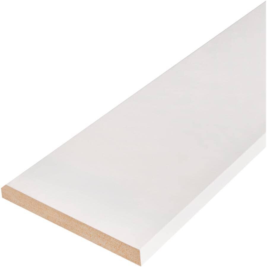 "ALEXANDRIA MOULDING:5/8"" x 5-1/2"" x 8' Medium Density Fibreboard Primed Colonial Baseboard Moulding"