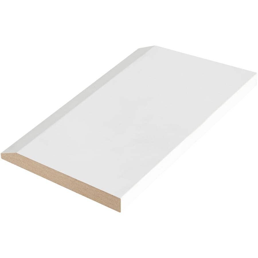 "ALEXANDRIA MOULDING:1/2"" x 4-3/4"" x 8' Medium Density Fibreboard Primed Bevel Baseboard"