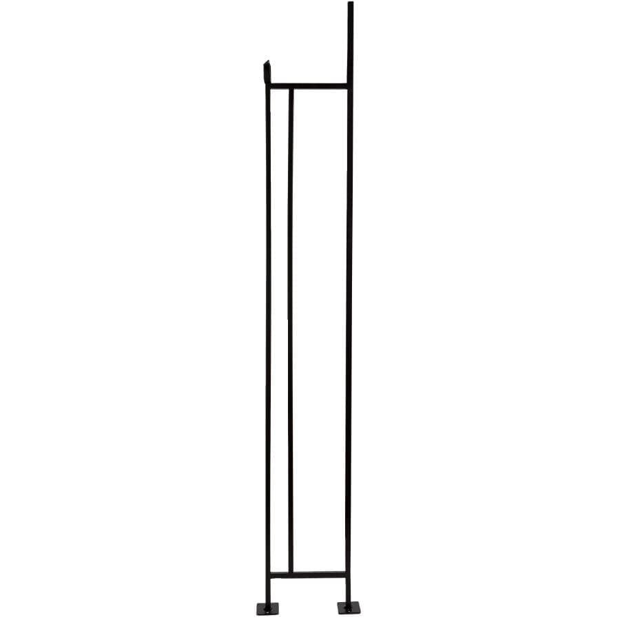 """ALEXANDRIA MOULDING:3/8"""" x 6"""" x 3.5' Satin Black Wrought Iron Baluster"""