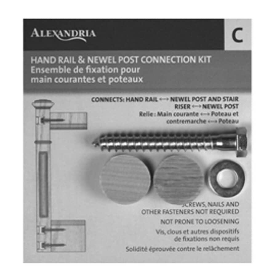 ALEXANDRIA MOULDING:Handrail and Newel Fastener Kit