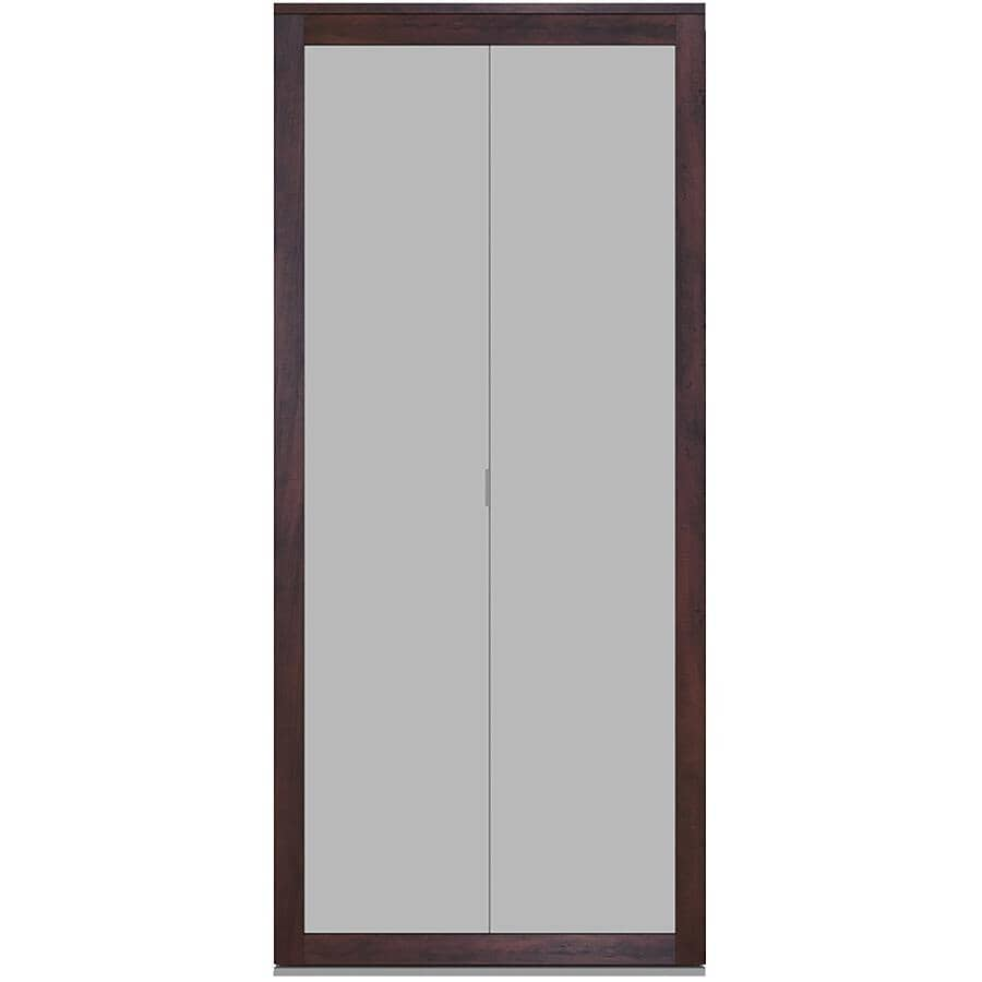 """COLONIAL ELEGANCE:Fusion Plus Bifold Door - Frosted Glass & Chocolate, 30"""" x 80"""""""