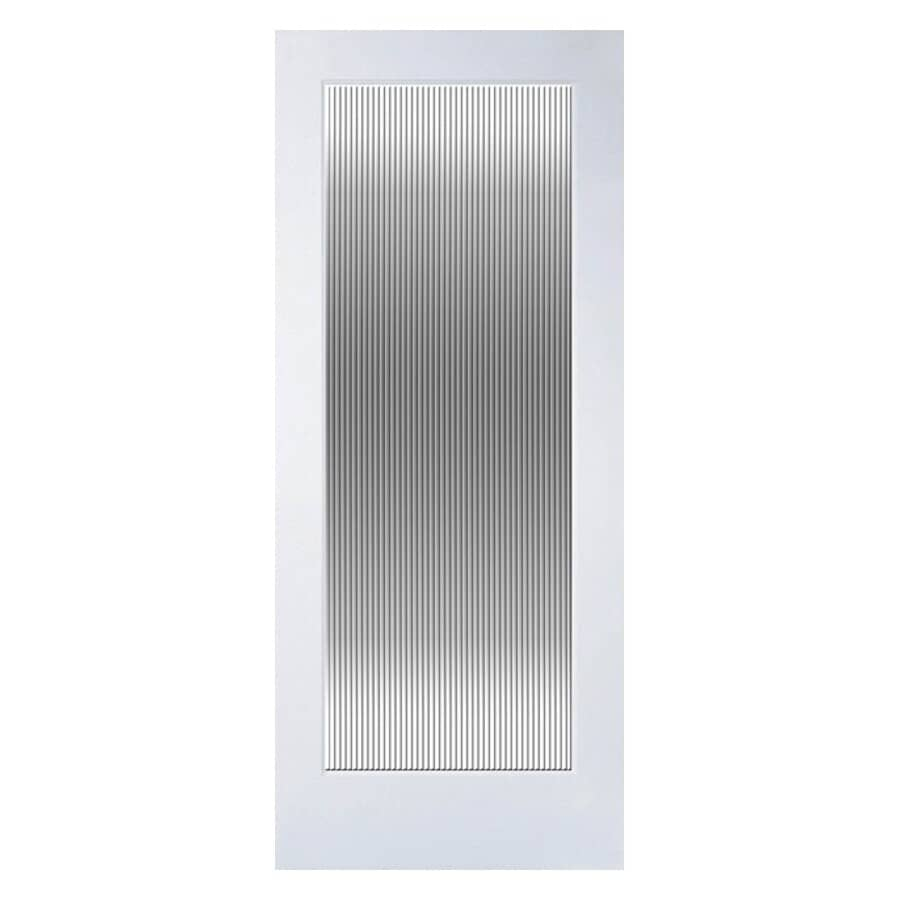 """MASONITE:1-3/8"""" x 28"""" x 80"""" Fluted 1 Lite Primed French Door"""