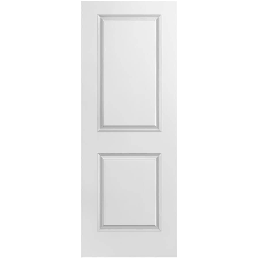 """MASONITE:20"""" X 80"""" 2 Panel Square Smooth Fast Fit Door, with Finger Jointed Pine Jamb"""