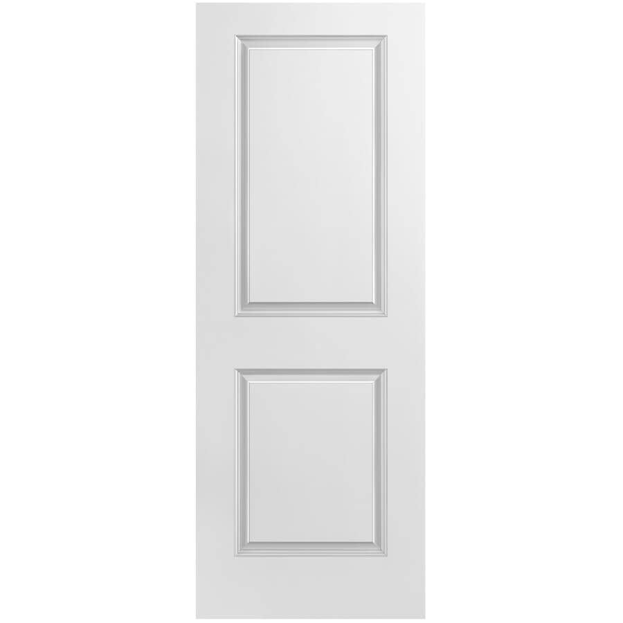 """MASONITE:18"""" x 80"""" 2 Panel Smooth Right Hand Pre-hung Door, with Primed Finger Jointed Jamb"""
