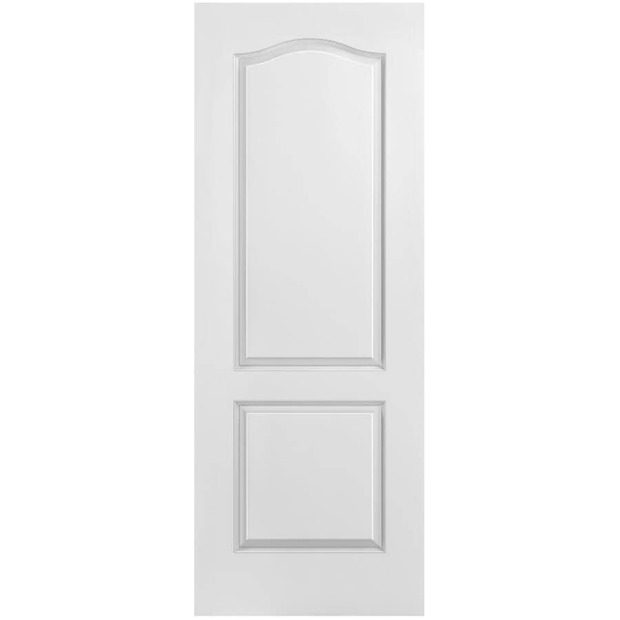 """MASONITE:34"""" x 80"""" 2 Panel Arch Left Hand Pre-Hung Door - with 4-9/16"""" Rabbeted Jamb"""