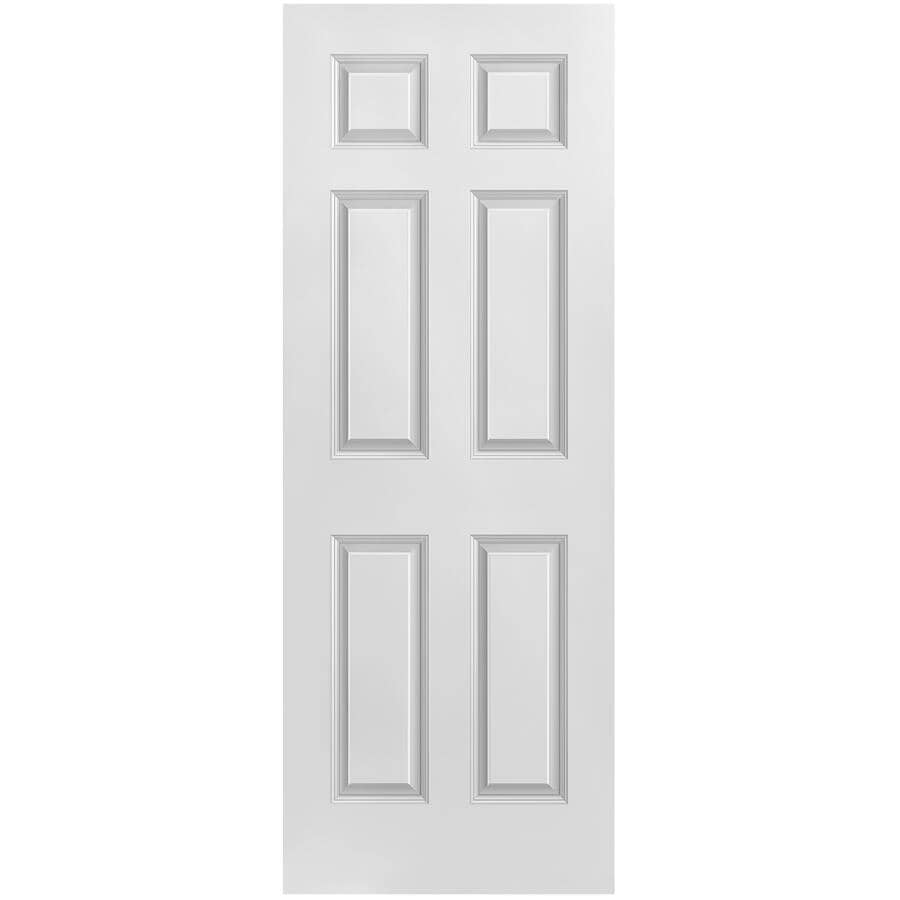 """MASONITE:36"""" x 80"""" 6 Panel Left Hand Pre-hung Door, with Primed Finger Joint 4-9/16"""" Rabbeted Jamb"""