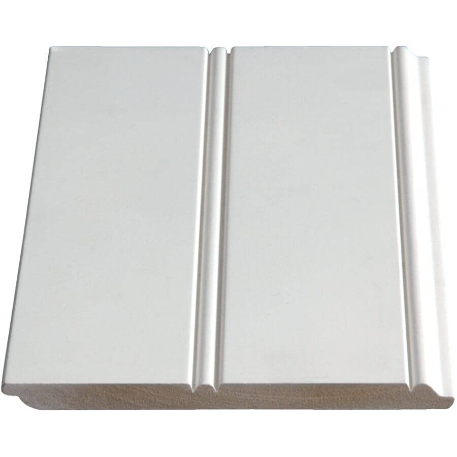 """ALEXANDRIA MOULDING:3/8"""" x 5-3/4"""" x 8' Medium Density Fibreboard Primed Wainscot Panel"""