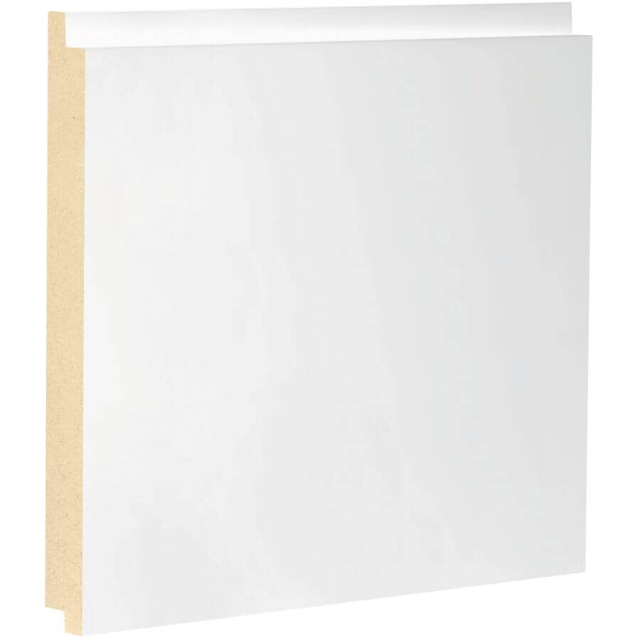 "METRIE:1/2"" x 7-1/4"" x 8' Medium Density Fibreboard Primed Modern Farmhouse Shiplap Panel"