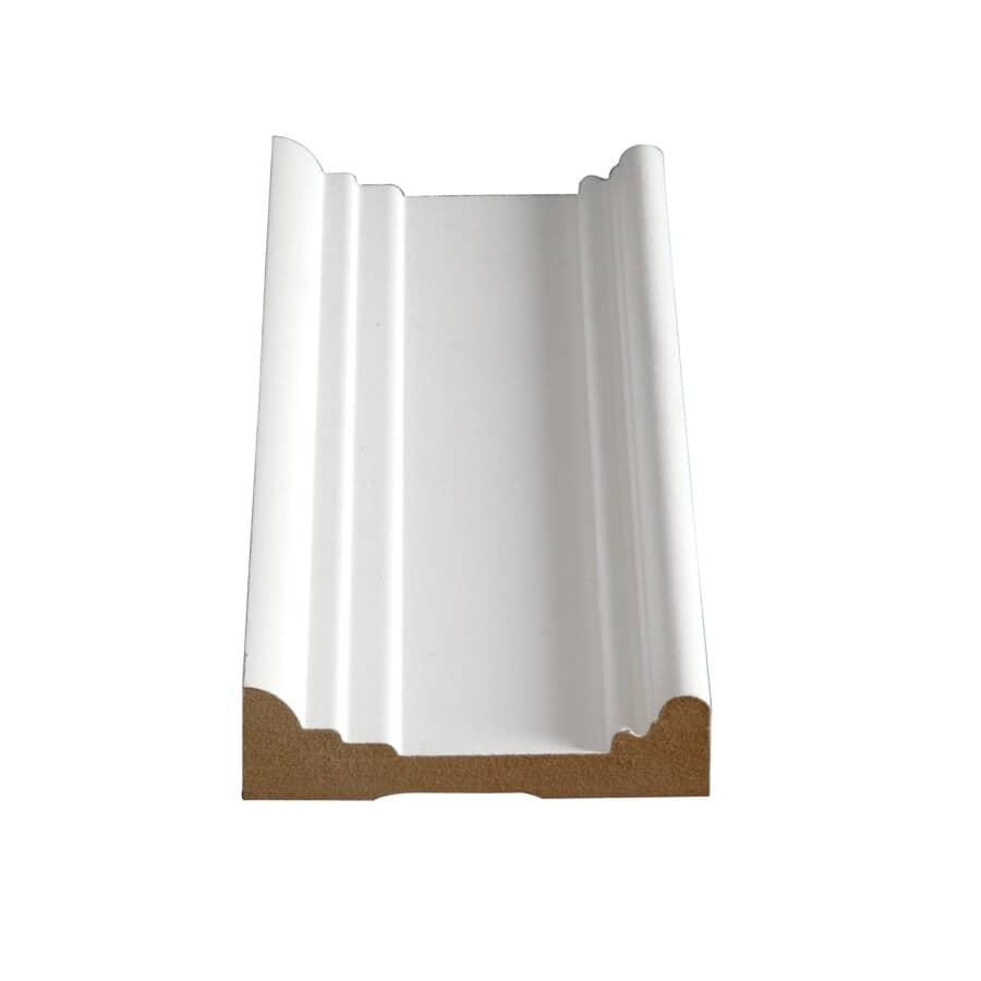 "ALEXANDRIA MOULDING:1"" x 3-5/8"" x 8' Medium Density Fibreboard Primed Ultra Light Architrave Moulding"