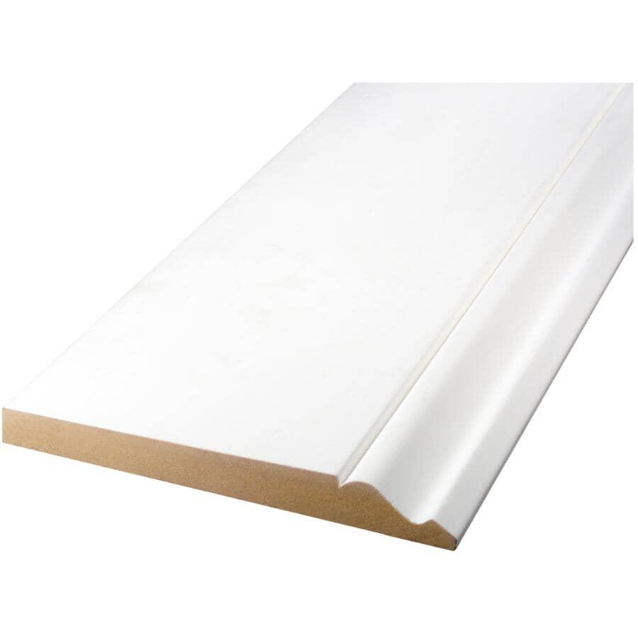 """ALEXANDRIA MOULDING:5/8"""" x 7-1/4"""" Medium Density Fibreboard Primed Baseboard Moulding, by Linear Foot"""