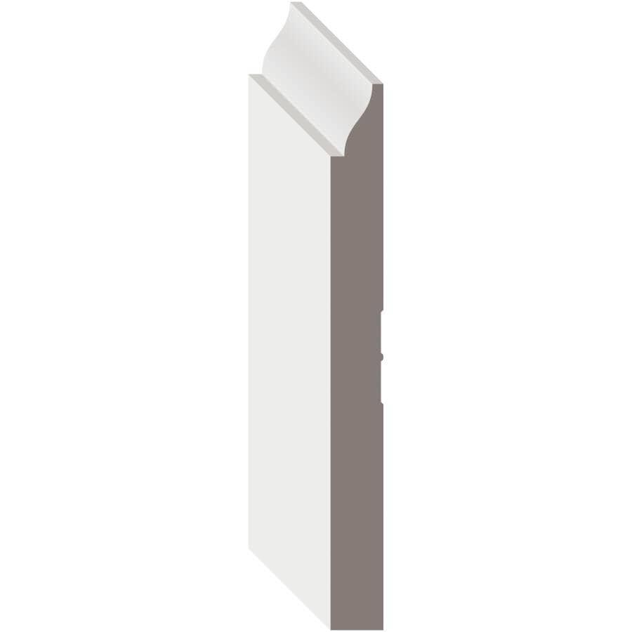 """METRIE:9/16"""" x 5-1/4"""" Medium Density Fibreboard Primed Light Baseboard Moulding, by Linear Foot"""