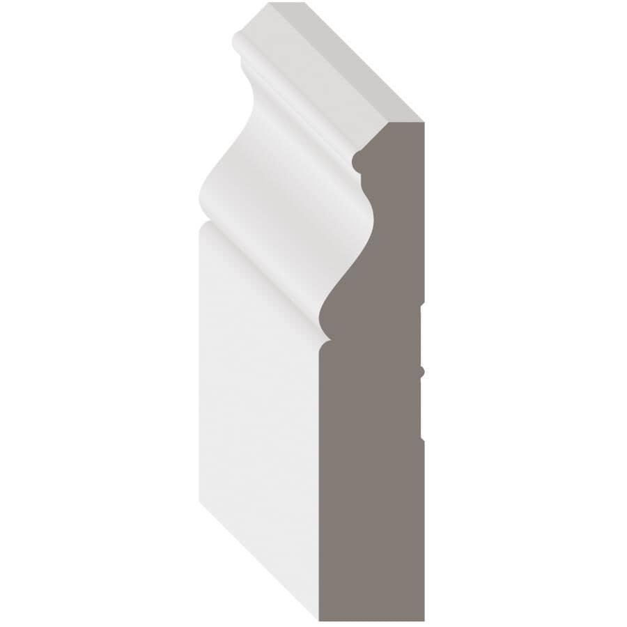 """METRIE:5/8"""" x 3-1/4"""" Medium Density Fibreboard Primed Light Baseboard Moulding, by Linear Foot"""