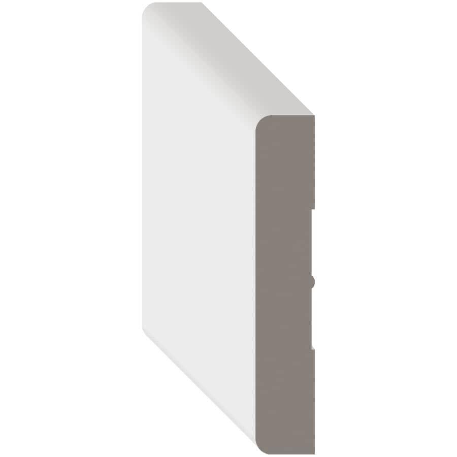 """METRIE:1/2"""" x 2-1/2"""" Medium Density Fibreboard Primed Light Baseboard Moulding, by Linear Foot"""