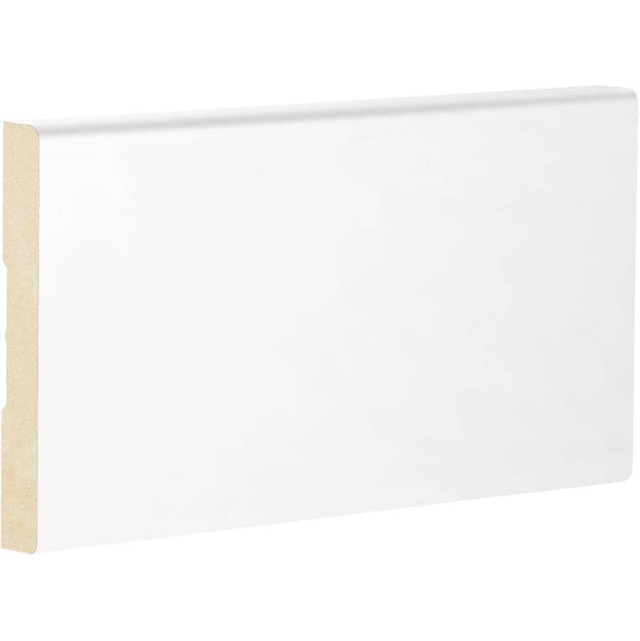 """METRIE:1/2"""" x 3-1/4"""" Medium Density Fibreboard Primed Light Baseboard Moulding, by Linear Foot"""