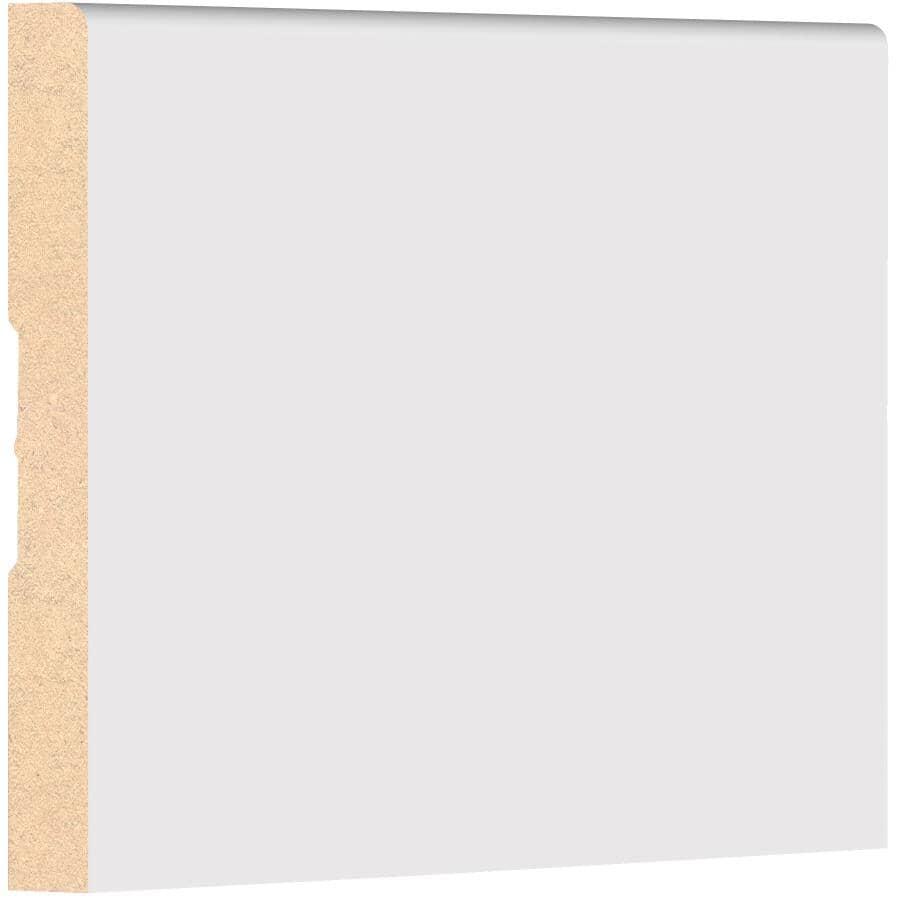 "METRIE:1/2"" x 4"" x 8' Primed Medium Density Fibreboard Eased One Edge Baseboard Moulding"