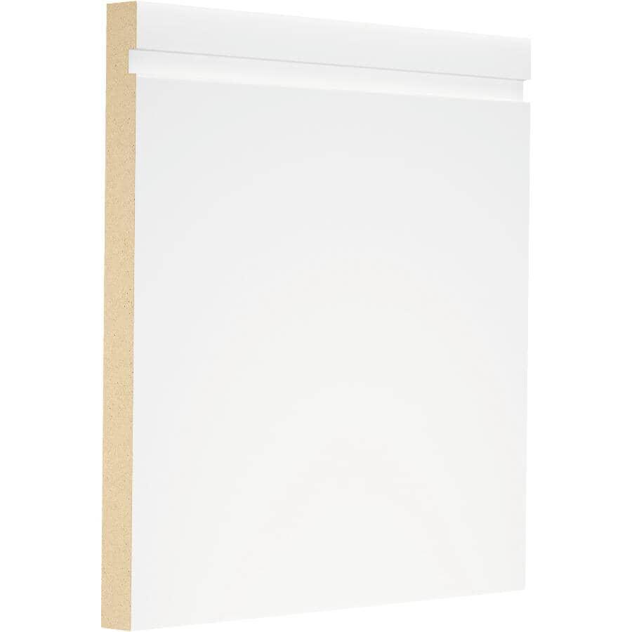 """METRIE:1/2"""" x 6-1/2"""" x 8' West End Medium Density Fibreboard Primed Baseboard Moulding"""