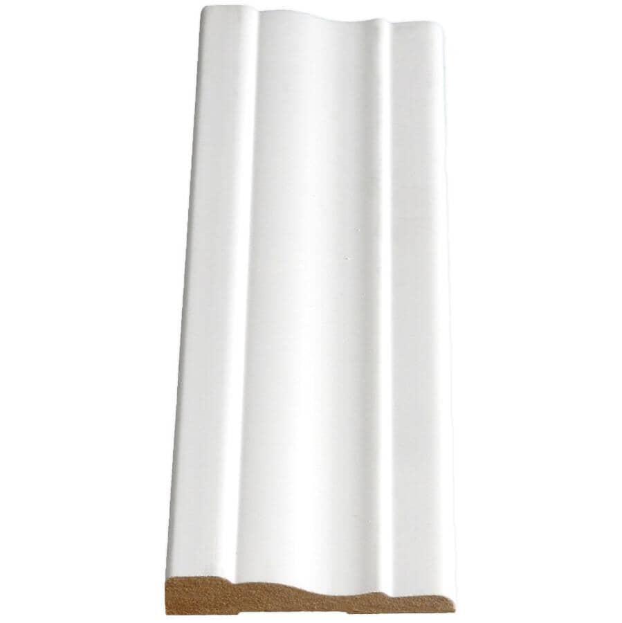 "ALEXANDRIA MOULDING:3/8"" x 2-1/4"" Colonial Ultralite/Lite Medium Density Fibreboard Primed Casing Moulding, by Linear Foot"