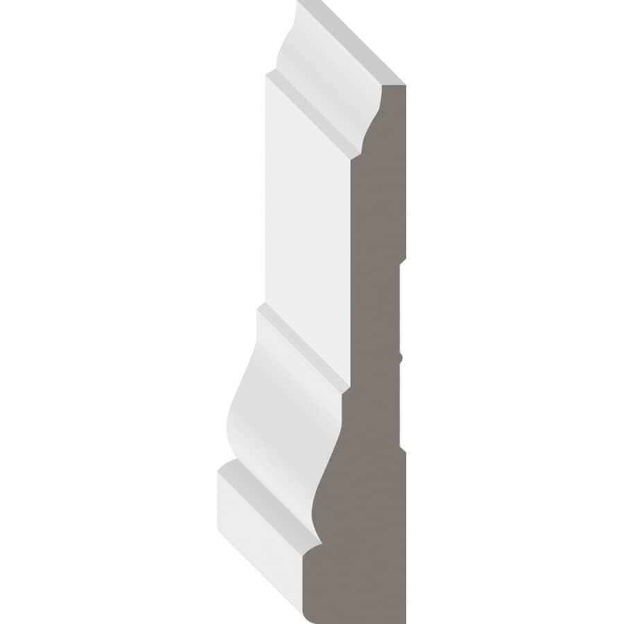 """METRIE:9/16"""" x 3-1/4"""" Medium Density Fibreboard Primed Casing Baseboard Moulding, by Linear Foot"""