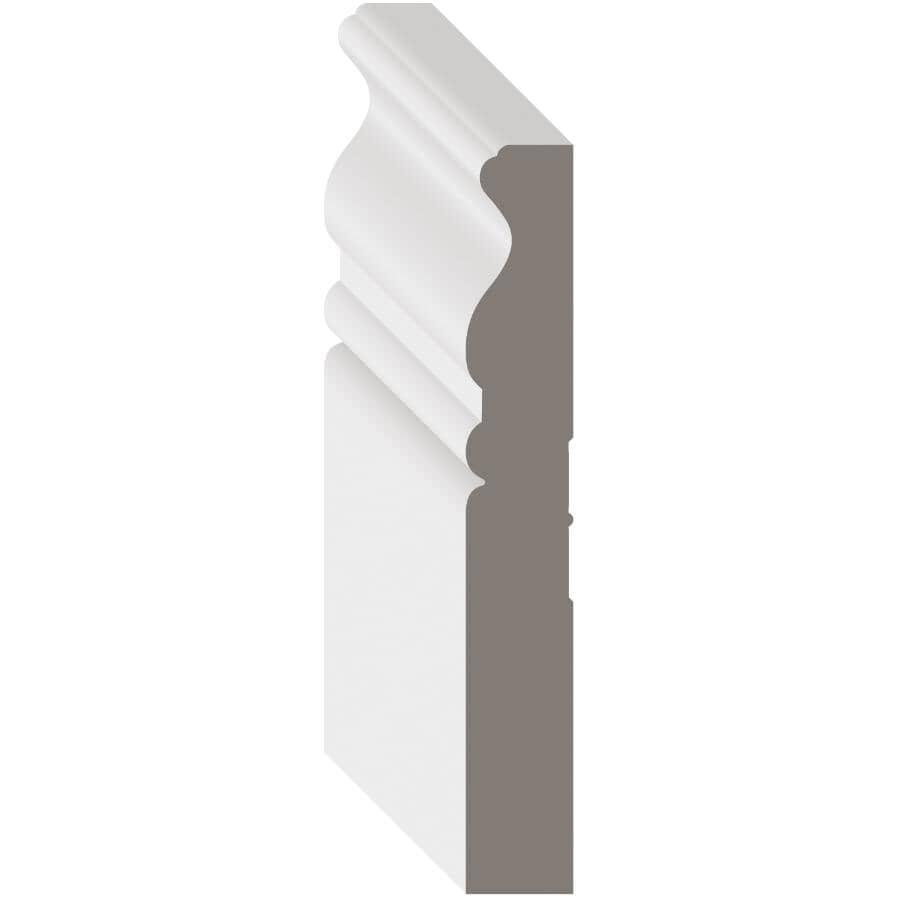 """METRIE:9/16"""" x 4-1/8"""" Medium Density Fibreboard Primed Light Casing Baseboard  Moulding, by Linear Foot"""