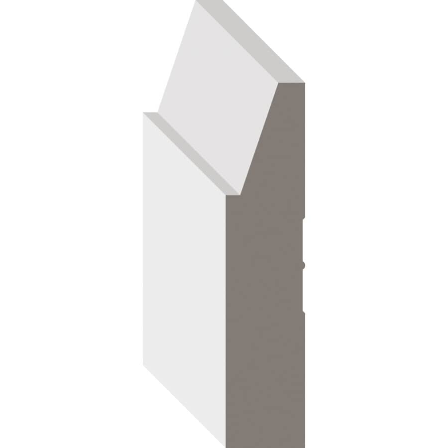 """METRIE:3/4"""" x 3-1/2"""" x 102"""" Contemporary Primed Finger Jointed Poplar Casing"""