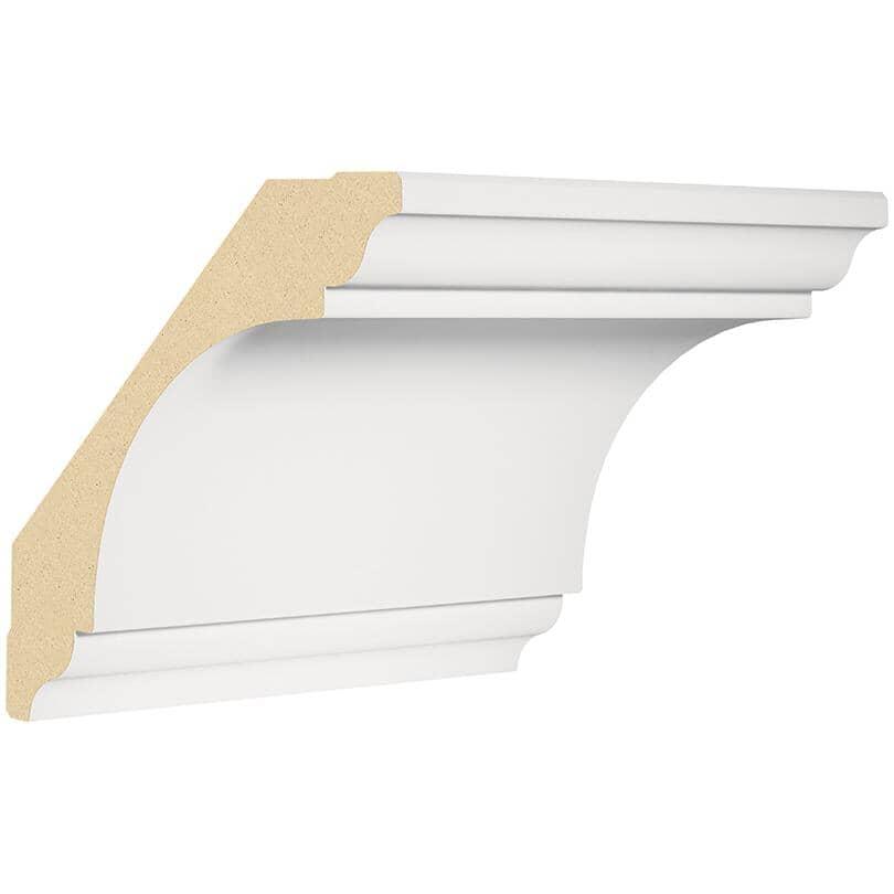 "METRIE:1-3/16"" x 6-5/16"" Medium Density Fibreboard Primed Crown Moulding, by Linear Foot"