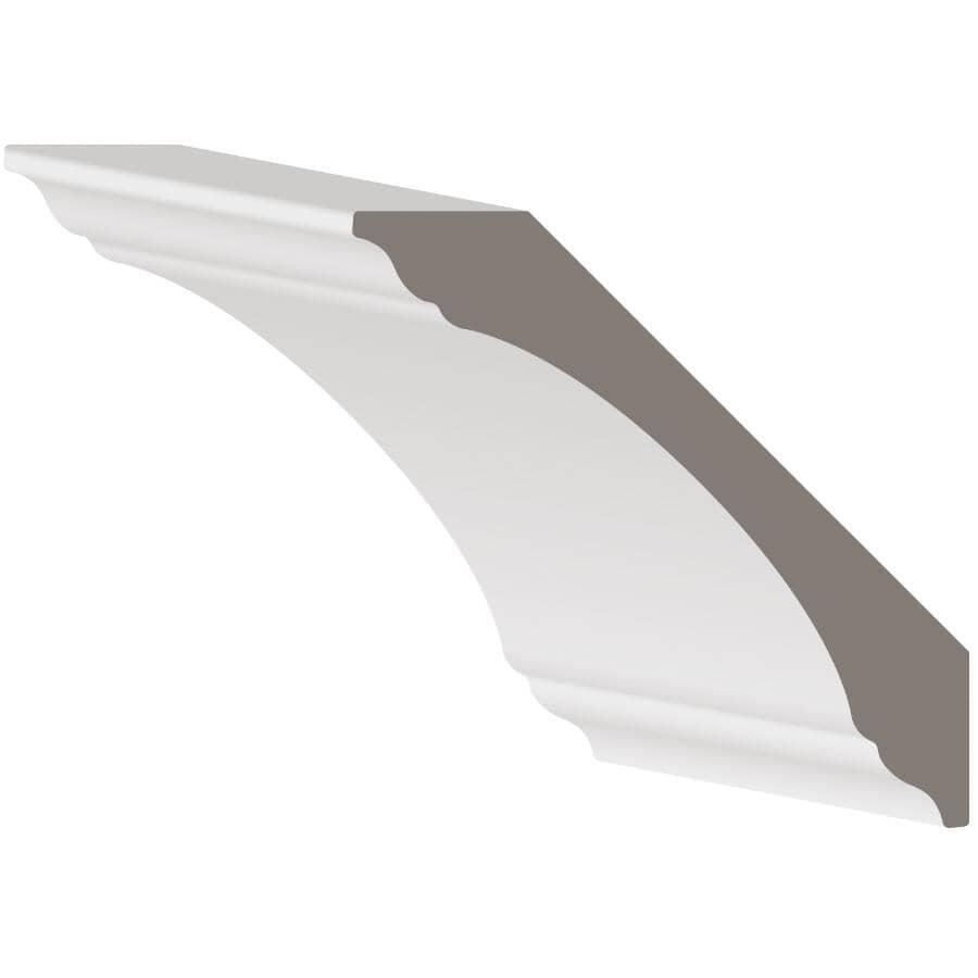 """METRIE:11/16"""" x 4-1/4"""" Medium Density Fibreboard Primed Light Crown Moulding, by Linear Foot"""