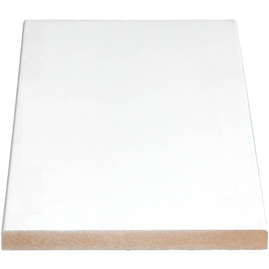 """ALEXANDRIA MOULDING:11/16"""" x 6-1/2"""" Medium Density Fibreboard Surfaced Four Sides Eased Two Edges Moulding, by Linear Foot"""