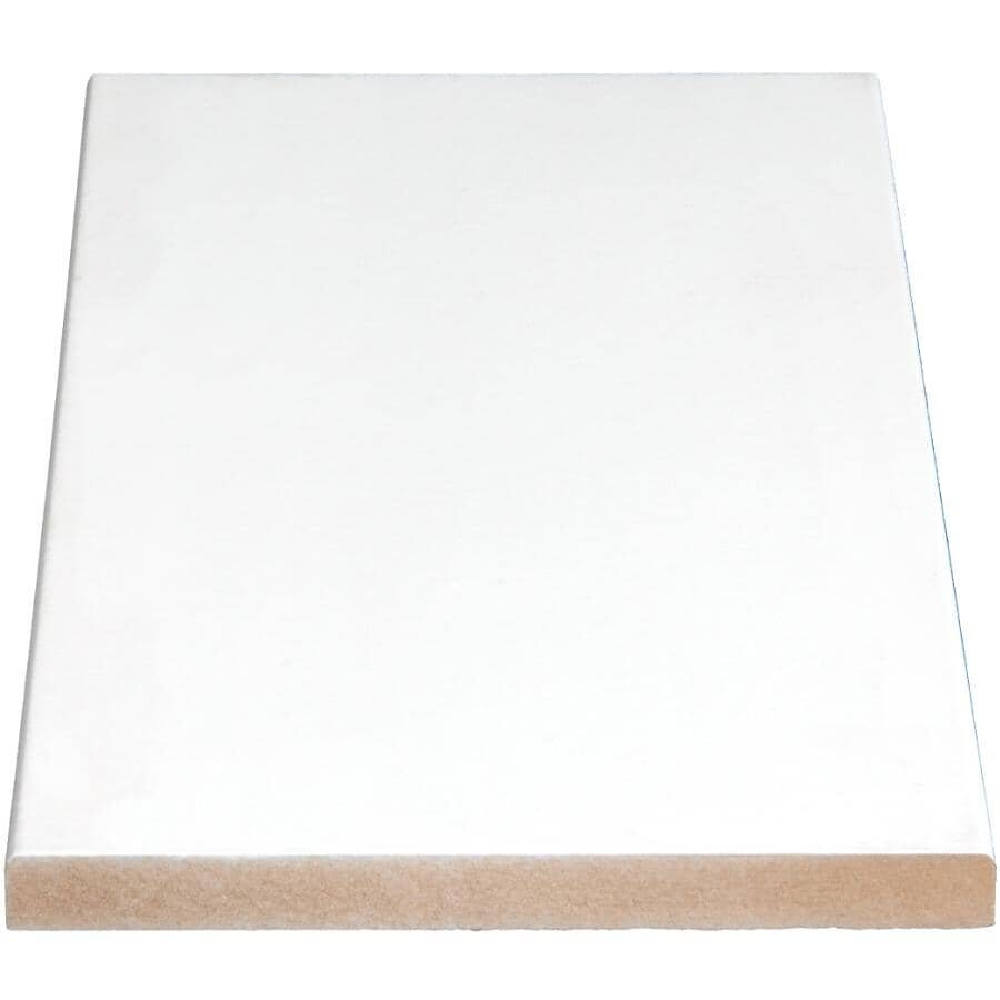 """ALEXANDRIA MOULDING:11/16"""" x 5-1/2"""" Medium Density Fibreboard Surfaced Four Sides Eased Two Edges Moulding, by Linear Foot"""