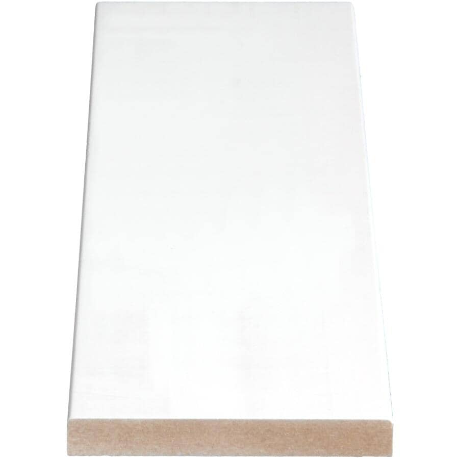 """ALEXANDRIA MOULDING:1/2"""" x 3-1/2"""" Medium Density Fibreboard Surfaced Four Sides Eased Two Edges Moulding, by Linear Foot"""