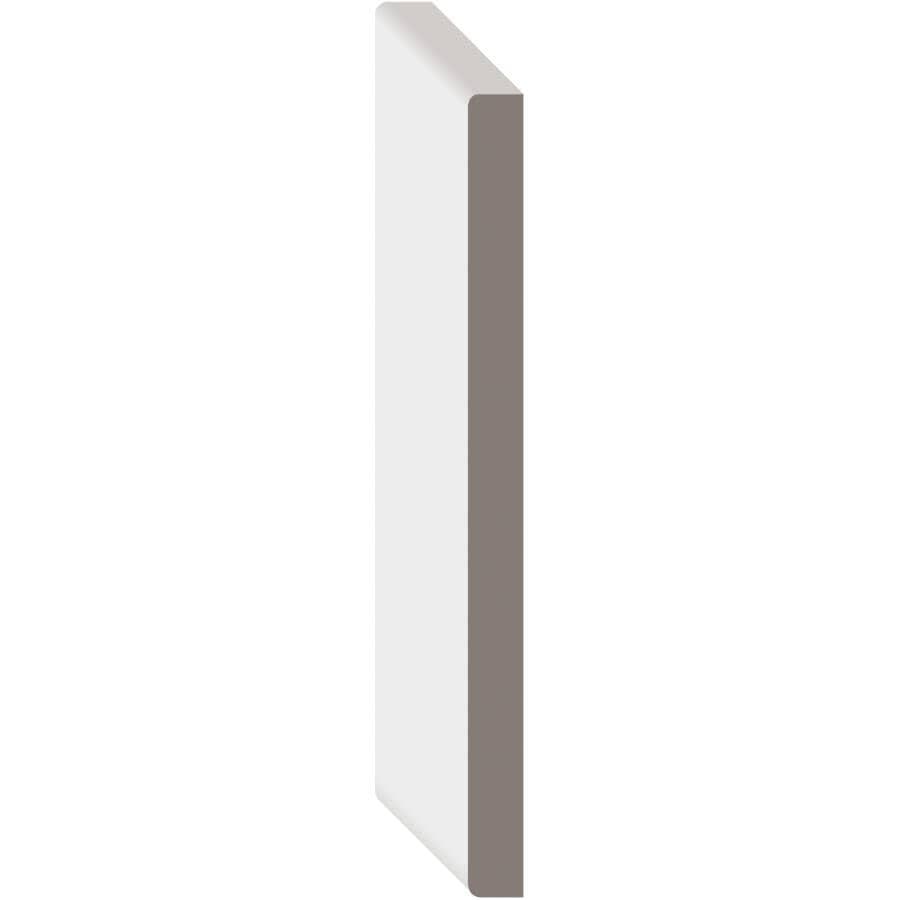 """METRIE:1/2"""" x 7-1/4"""" Medium Density Fibreboard Primed E2E Baseboard Moulding, by Linear Foot"""