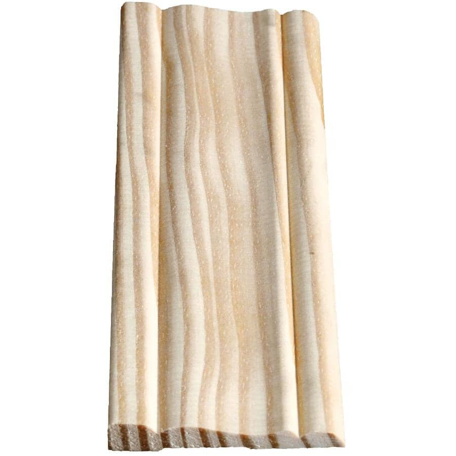 """ALEXANDRIA MOULDING:3/8"""" x 2-1/2"""" x 7' Pine Colonial Casing Moulding"""
