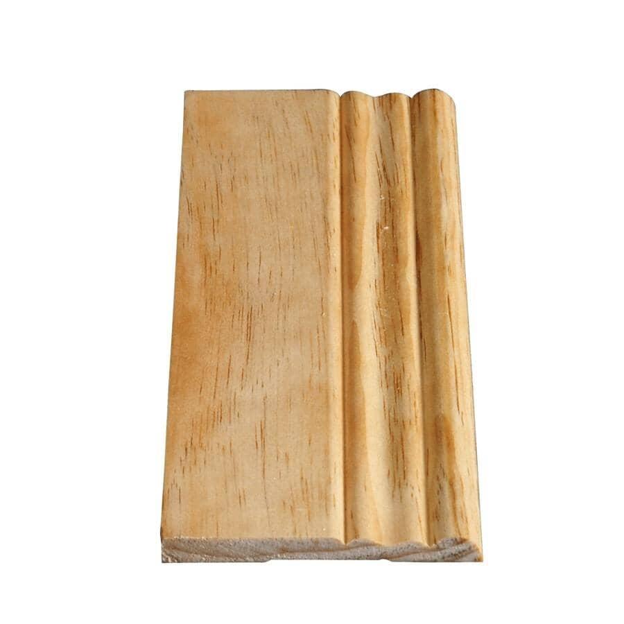 "ALEXANDRIA MOULDING:7/8"" x 3"" x  8"" Plinth Block Pine Moulding"