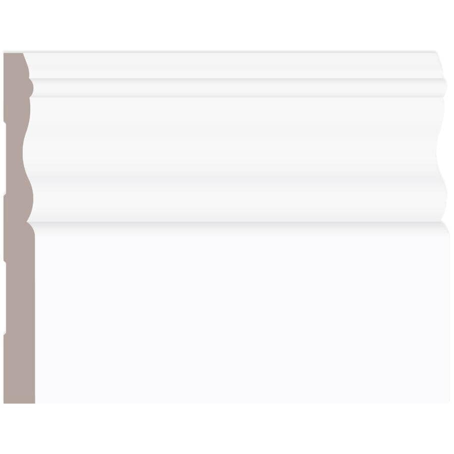 """ALEXANDRIA MOULDING:3/8"""" x 4-1/8"""" Finger Jointed Pine Colonial Baseboard Moulding, by Linear Foot"""