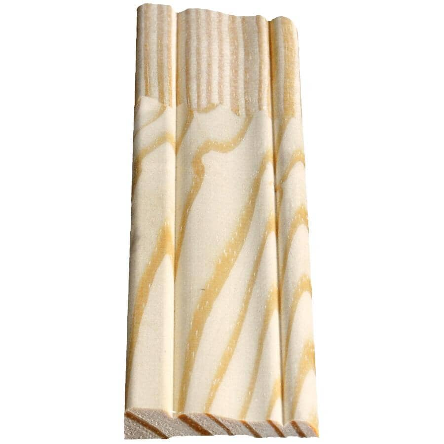 """ALEXANDRIA MOULDING:7/16"""" x 2-1/8"""" x 7' Finger Jointed Pine Colonial Casing Moulding"""