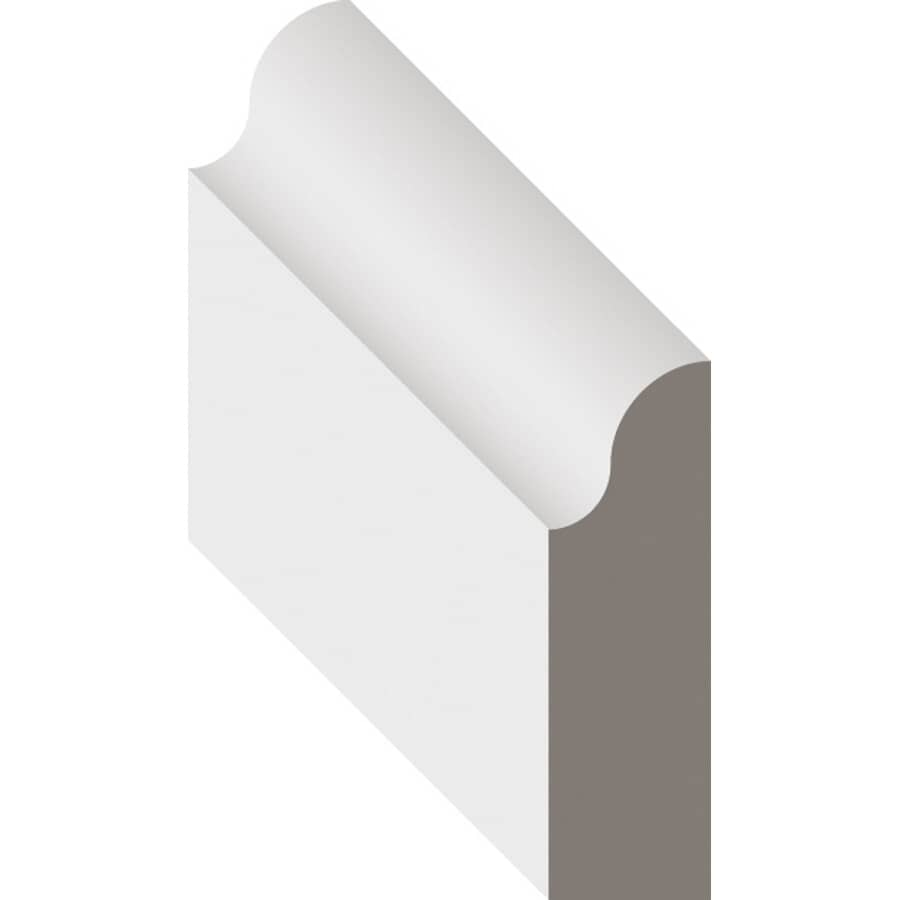 """METRIE:7/16"""" x 1-3/16"""" Finger Jointed Pine Primed Colonial Stop Moulding, by Linear Foot"""