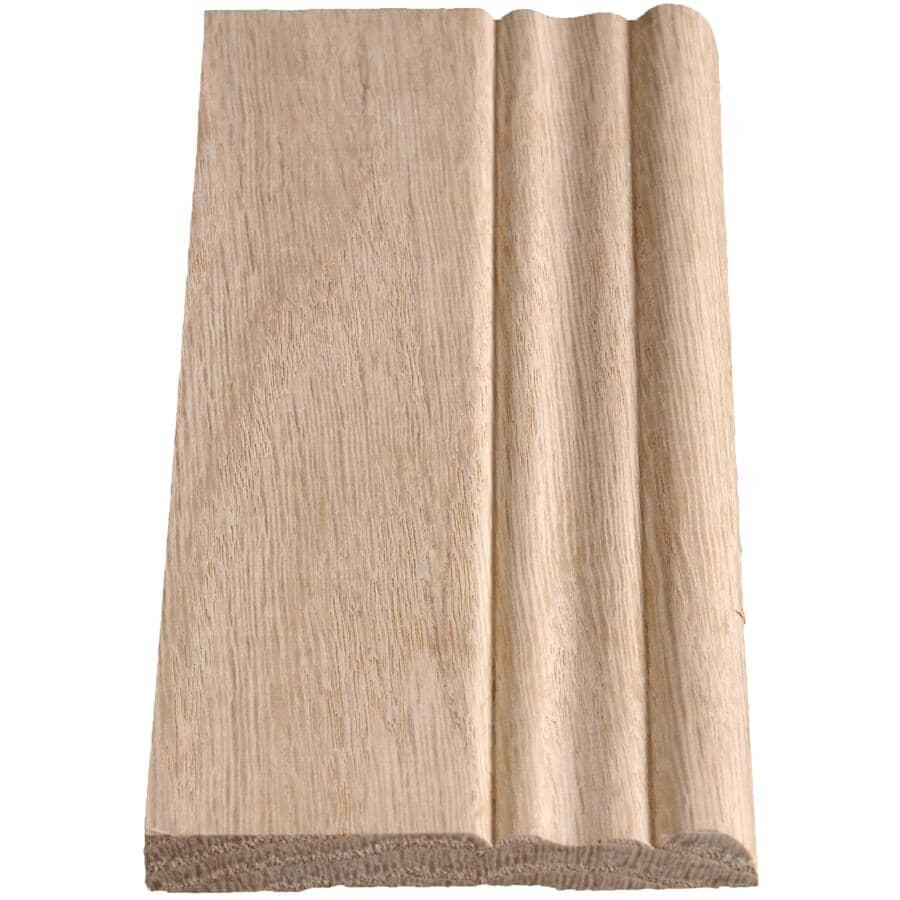 """ALEXANDRIA MOULDING:3/8"""" x 3-1/8"""" x 8' Oak Colonial Baseboard Moulding"""
