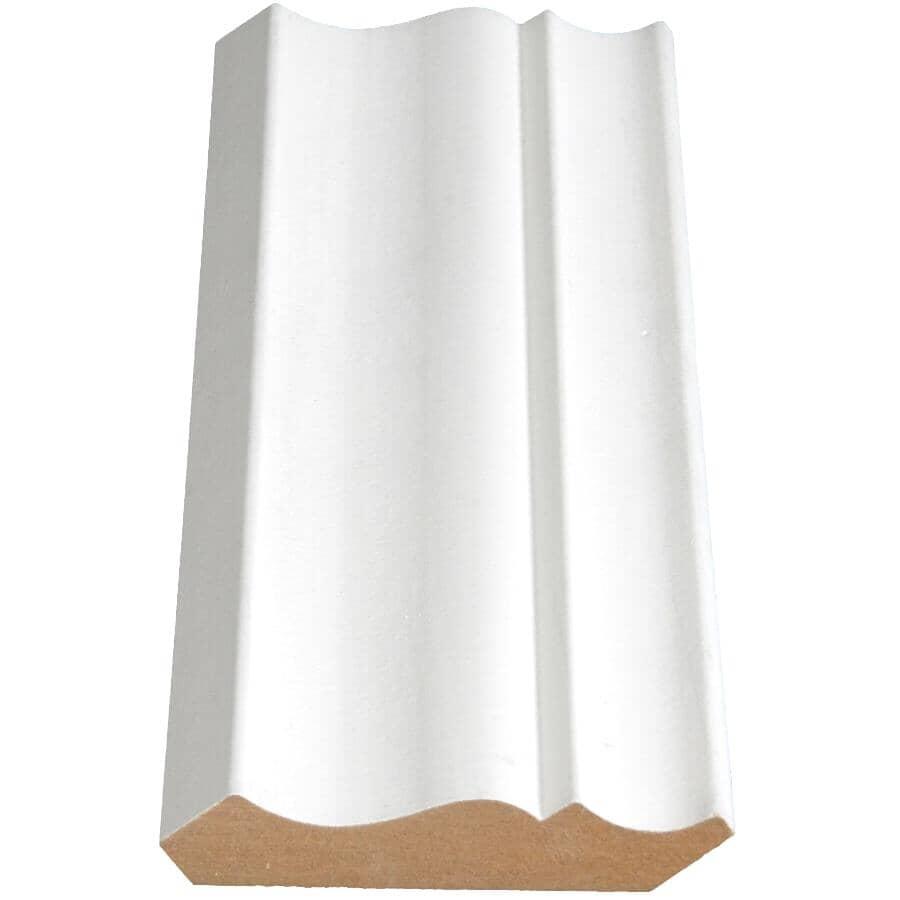 "ALEXANDRIA MOULDING:5/8"" x 3"" x 8' Deco Prefinished Universal White Medium Density Fibreboard Crown Moulding"