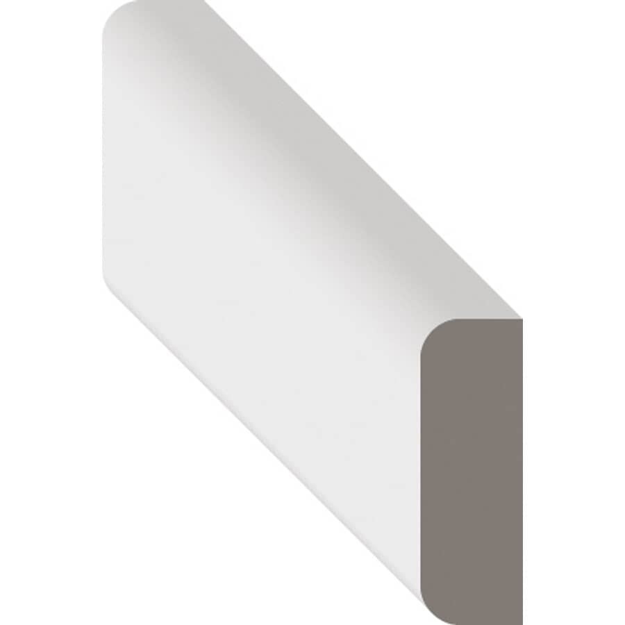 """METRIE:5/16"""" x 3/4"""" x 8' Pre-Finished White Batten Marquis Moulding"""