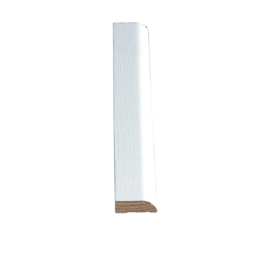 """ALEXANDRIA MOULDING:5/16"""" x 1-1/16"""" x 7' Pre-Finished White Stop Moulding"""