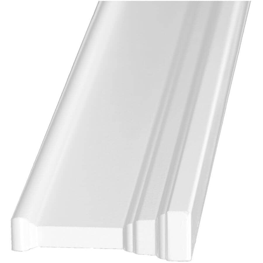 "ALEXANDRIA MOULDING:1-3/16"" x 4-3/16"" Medium Density Fibreboard Primed Architrave Moulding, by Linear Foot"