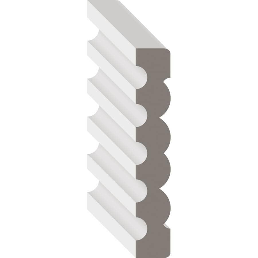 """METRIE:9/16"""" x 3-3/8"""" Medium Density Fibreboard Primed Baseboard Moulding, by Linear Foot"""