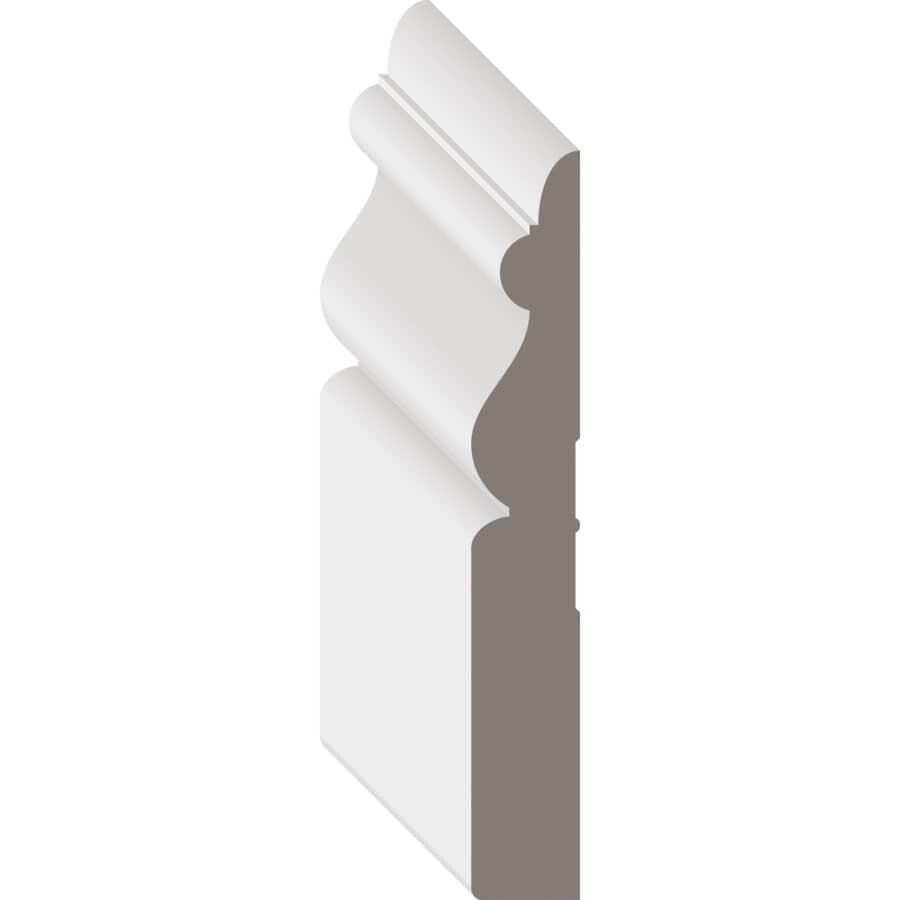 """METRIE:5/8"""" x 3-7/8"""" Medium Density Fibreboard Primed Baseboard Moulding, by Linear Foot"""