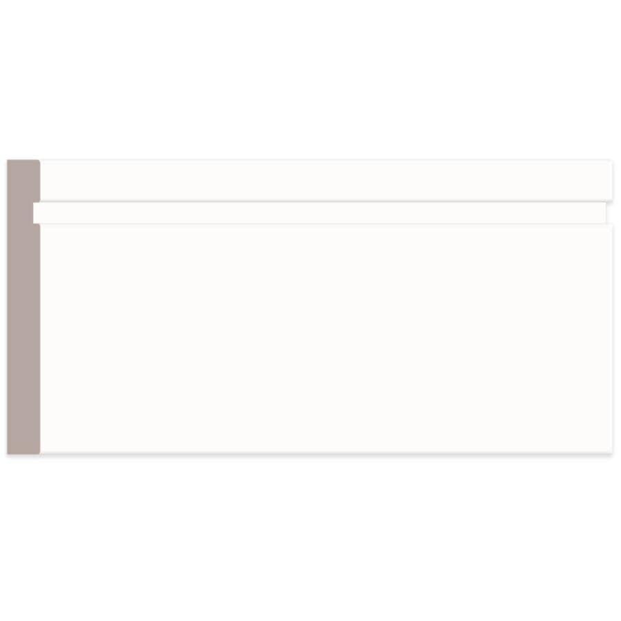 "ALEXANDRIA MOULDING:5/8"" x 3-1/2"" Medium Density Fibreboard Primed Casing Moulding, by Linear Foot"