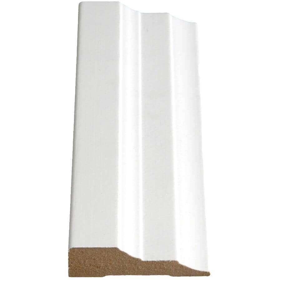 "ALEXANDRIA MOULDING:5/8"" x 2-1/2"" Medium Density Fibreboard Primed Casing Step Moulding, by Linear Foot"