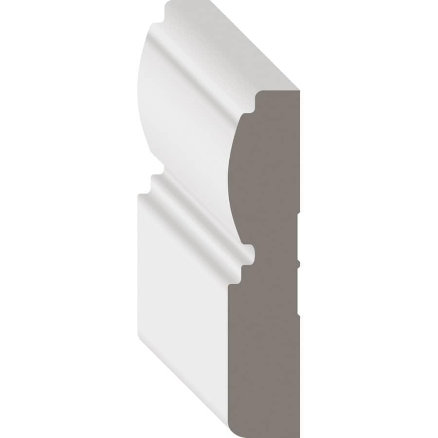 """METRIE:5/8"""" x 3"""" Medium Density Fibreboard Primed Casing Baseboard Moulding, by Linear Foot"""