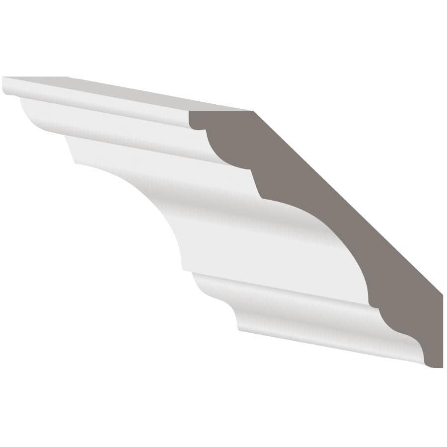 """METRIE:1/2"""" x 3-5/16"""" x 8' Medium Density Fibreboard Pre-Painted Crown Moulding"""