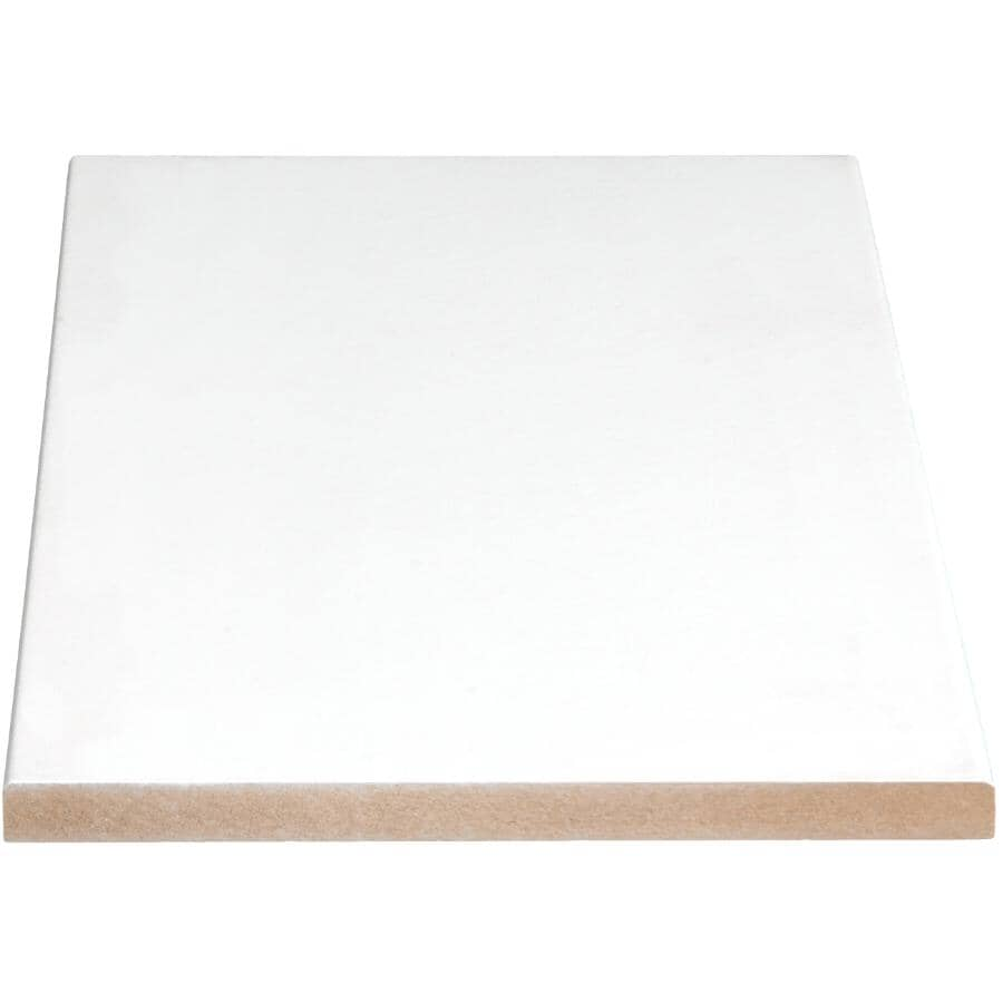 """ALEXANDRIA MOULDING:1/2"""" x 9-1/4"""" Medium Density Fibreboard Primed Surfaced E2E Four Sides Moulding, by Linear Foot"""