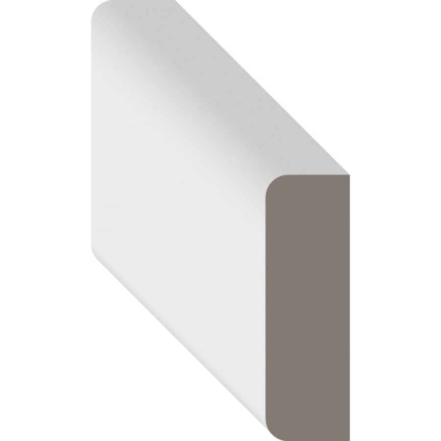 """METRIE:3/8"""" x 1-1/4"""" Finger Jointed Pine Primed Stop Moulding, by Linear Foot"""