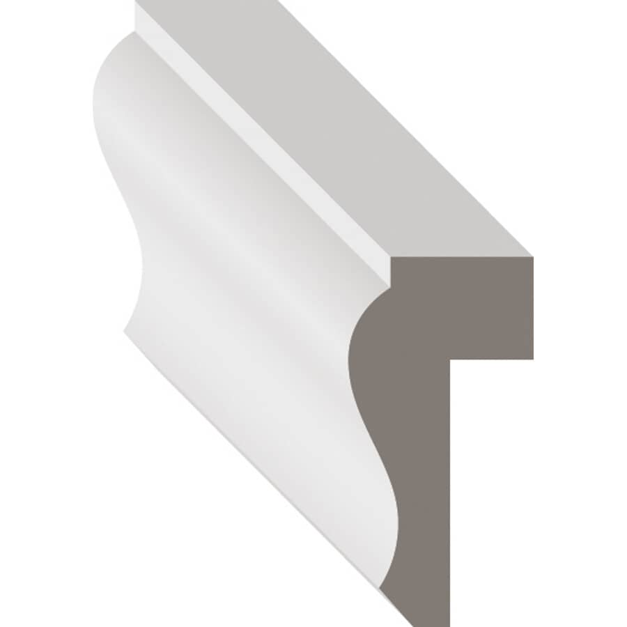 """METRIE:9/16"""" x 1-1/8"""" x 8' Finger Jointed Pine Primed Wainscot Moulding"""