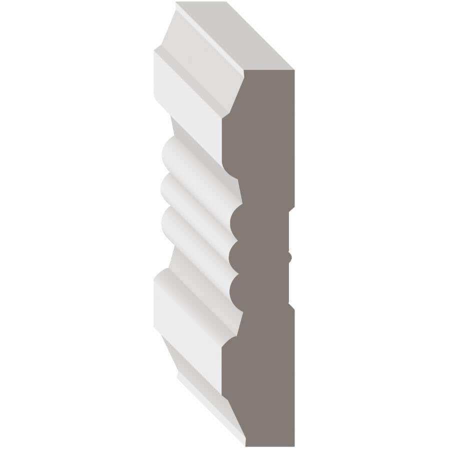 """METRIE:3/4"""" x 3-7/8"""" Medium Density Fibreboard Primed Victorian Casing Moulding, by Linear Foot"""